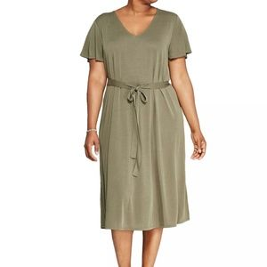 NWT Ava & Viv olive green dress